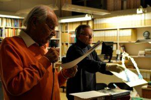 Lennart läste och Fibben visade rörliga och tredimensionella bilder.